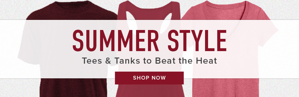 Picture of shirts. Summer Style: tees & tanks to beat the heat. Click to shop now.